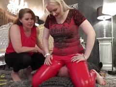 verified amateurs, female domination, breath control, face sitting, slave, femdom, double domination, mother and daughter, mistress, domina, foot fetish, latex leggings