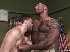 Tristan and daymin turn their gun-training into some raging sex @ gun show