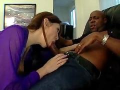 Desperate white housewife with black lover - interracial