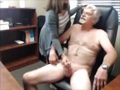 Mature guy tries to fuck his secretary