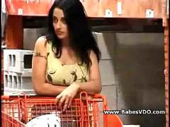 Milf hunting big cock in supermarket