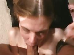 Beautiful flat tits melissa blowjob & facial