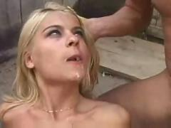 Teen fucked outdoor