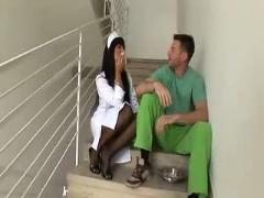 Hot nurse gets anal fuck