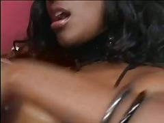 Two beautiful ebonys big massive tits suck eachother and lick eachothers pussy