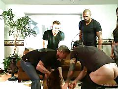 small tits, babe, rough sex, gangbang, skirt, brunette, mouth fuck, undressing, hair pulling, hardcore gangbang, kink, mr. pete, toni ribas, karlo karrera, bill bailey, juliette march, tommy pistol
