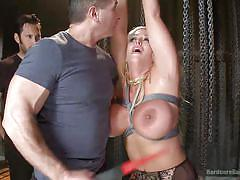 milf, blonde, bdsm, gangbang, stockings, blowjob, busty, chains, squeezed tits, electric wand, hardcore gangbang, kink, mr. pete, karlo karrera, john strong, owen gray, alura jenson, tommy pistol