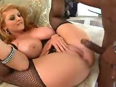 2 blondes fuck with a black face