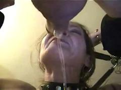Wife gagging on my cock