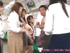Asian schoolgirls train - watch part2 on bit.do/asiantube