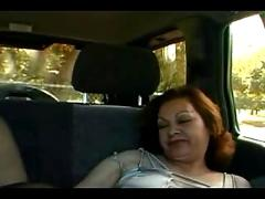 Mature with stretch marks fucks in the car