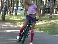 Teen and her bike