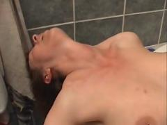 Mom getting fucked in the bathtub