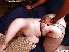 Sexy sashaa juggs loves to suck and fuck big black cocks