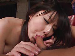 Megumi sucks my cock