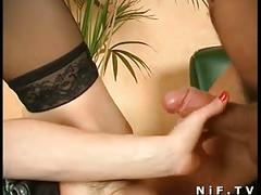 French slut gets a huge dick in her ass