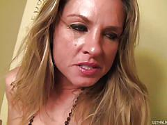 milf, blonde, big cock, money, toilet, gloryhole, blowjob, huge cock gloryholes, amanda blow