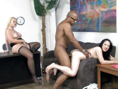Dee siren and her daughter cheris red fucks a bbc
