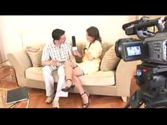 anal, stockings, tan, blowjob, cuminass, interview