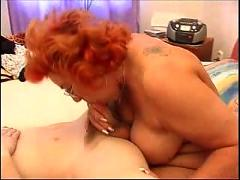 Redhead mom good blowjob
