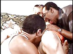 threesome, mature, interracial, classic, blowjob, black cock, pussy licking, couch, hairy pussy, blonde milf, classics of porn, guy dasilva, julian st. jox, mrs. g. english, dave cummings