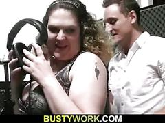 He licks and fingers her fat pussy