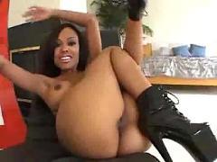 Sexy ebony pussy fucked