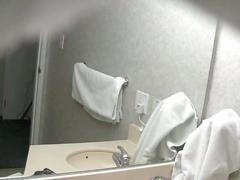 Hidden camera in bathroom filming a hotty getting ready!!