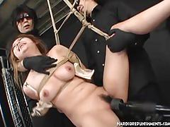 fetish, asian, hardcorepunishments.com, japanese, femdom, hairy play, vibrator, domination, kinky, bdsm, bondage, big boobs, perky nipples, dildo