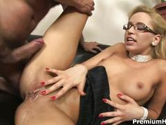 Aleska diamond fucks her boss to save her job