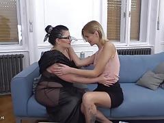 Curvy bbw has sex with a hot babe