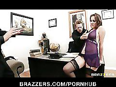 Busty brunette secretary kiera king seduces her bosses at work