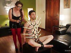 Ms nikki nefarious demonstrates rope bondage and candle play