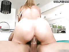 Blond milf holly riding cock