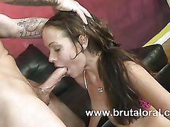 Intense blowjob and intercourse