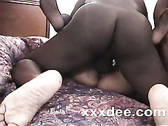 Black phallus in mature kitty