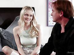 Blonde slut teases all the men @ the stepmother #13