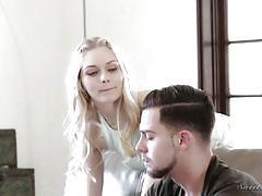 Blonde slut teases all the men @ the stepmother #13