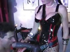 Mistress has huge strapon