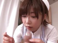 Nurse cleans smegma cock
