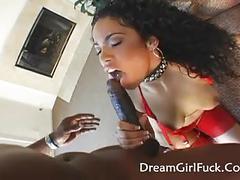 Female receives a cream in anal sex