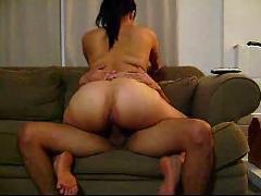 Slut wife riding best friend's cock