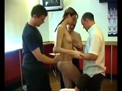 British chick gangbang in bar
