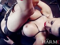 Jasmin jae takes on two monster cocks