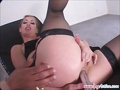 Chelsea zinn takes a bbc deep in her ass