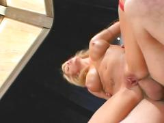 Milf with incredible tits loves toys and dick in her mouth, ass, and pussy