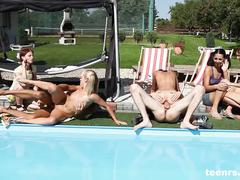 Teenrs.com cfnm pool party