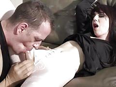 Dude rips tranny's pantyhose and finds something he likes @ tranny hoes in pantyhose #04