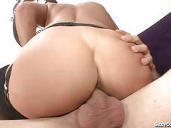 Horny milf babe devours a big dick