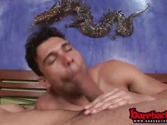 Horny latino gays barebacking anal fuck.